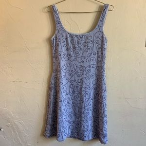 Cache• mini light blue beaded dress size Large